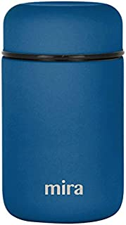 MIRA Lunch, Food Jar, Vacuum Insulated Stainless Steel Lunch Thermos, 13.5 Oz, Denim Blue)