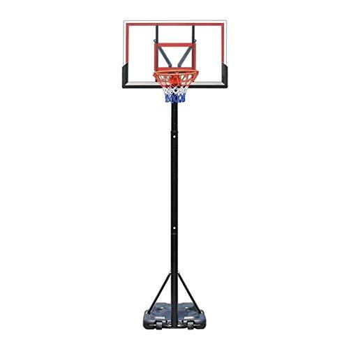 ZAIHW Exterior del aro de Baloncesto con el Sistema de Baloncesto for Adultos Tablero Trasero, en Forma de Y de Estructura de Soporte, se Puede Levantar y Bajar
