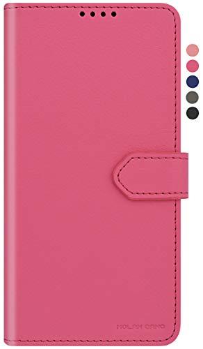 Qoosan LG V30 Wallet Case for Women Men, Folding PU Leather Flip Phone Case with Card Holder, Hot Pink