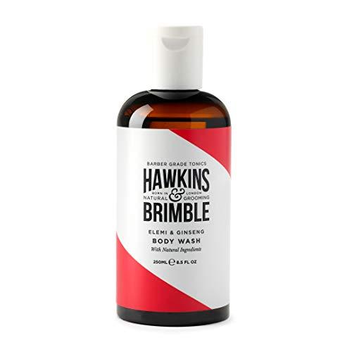 Hawkins & Brimble - Body Wash da uomo, 250 ml, idratante naturalmente profumato