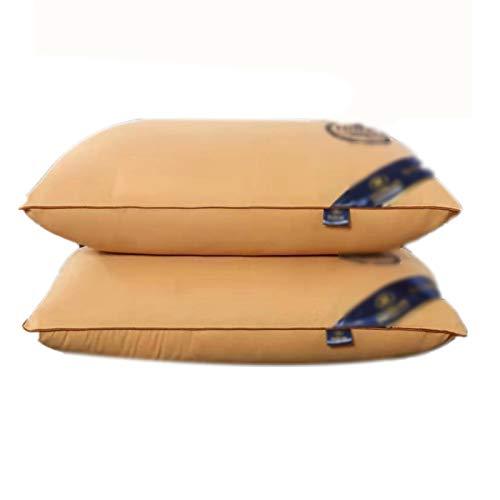 Huachaoxiang Almohada de Cama de Tela de algodón de 2 hoteles de Cinco Estrellas Cushion Densidad Suave Doon Alternatientes Almohada de Cama para rockeros de Vientre y Traseros, 48 * 74cm,3