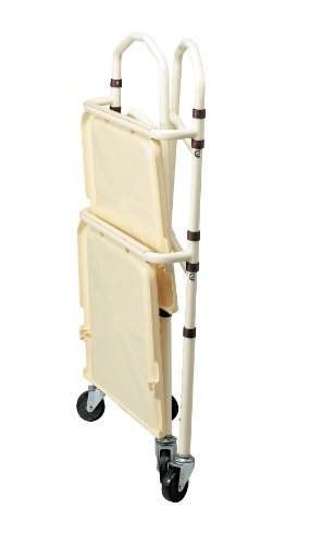 Homecraft Opvouwbare rolwagen, beweegbaar dienblad op een stabiel stalen frame voor het vervoer van medische apparaten of thuis, opvouwbaar gemakkelijk voor gemakkelijke opslag, ideaal voor ziekenhuis