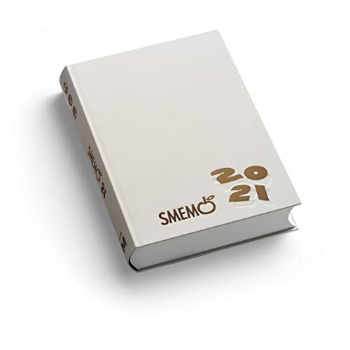 Smemoranda - Diario 2020/2021 16 Mesi, Bianco con logo oro, 11x15 cm