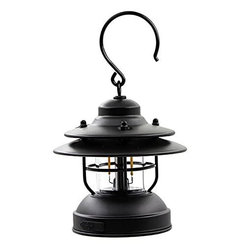 SoeHong Linterna de camping, al aire libre, lámpara colgante retro para pesca, barbacoa, senderismo, USB, recargable, luz de emergencia, lámpara
