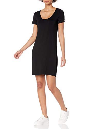 Amazon Brand - Daily Ritual Women's Jersey Ballet-Back T-Shirt Dress, Black, X-Large