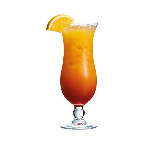 Arcoroc ARC 54584 Hurricane Cocktailglas, Cocktailschale, 440ml, Glas, transparent, 6 Stück