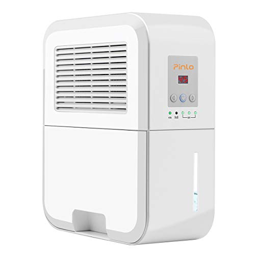 Sale!! pinlo Dehumidifier Electric Mini Dehumidifiers for Home Basements Bathroom Bedroom Closet War...
