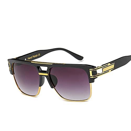 AMFG Gafas de sol de moda Hombres y mujeres Marco Retro Colorido Gafas de sol reflexivas Viajes de playa al aire libre (Color : B)
