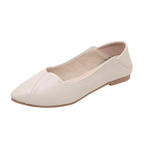 Luckycat Sandalias De Fiesta Mujeres Sandalias Planas Verano Mujeres Zapatos Planos Puntiagudos Casual Tobillo Tira Hebilla cómoda Ballet más Zapatos de Talla