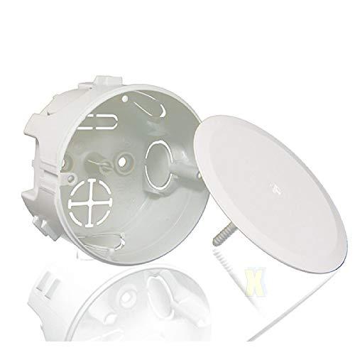 5x Unterputz Abzweigkasten Abzeigdose UP Ø 95 x 50 mm rund mit Schraub-Deckel Unterputzdose Verteilerdose