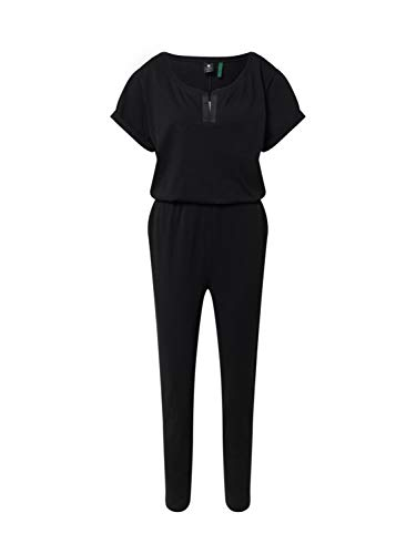 G-STAR RAW Damen Cocaux Straight Suit Jumpsuit, Schwarz (dk Black B771-6484), Small (Herstellergröße:S)