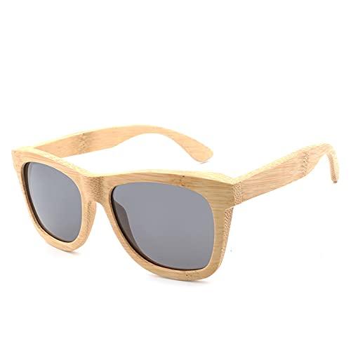 NBJSL Gafas De Sol Polarizadas De Bambú Y Madera Protección Uv400 Para Hombres Y Mujeres Gafas De Sol (Exquisita Caja De Embalaje)