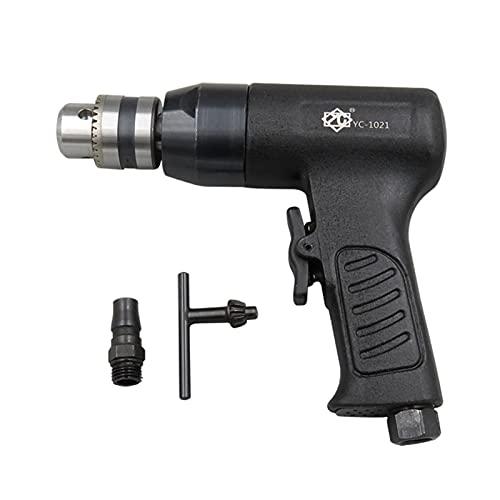 Taladro neumático: martillo neumático de 10 mm, control de velocidad de avance y retroceso manual neumático de 3/8, larga duración y estable