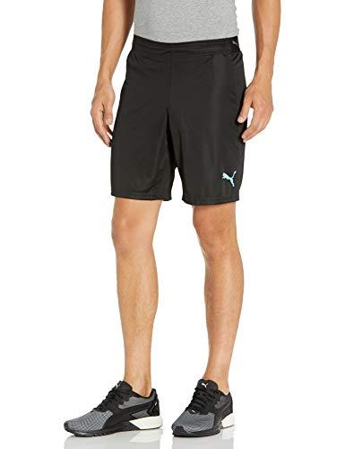 PUMA Men's FTBLNXT Shorts, Black-Luminous Blue, M