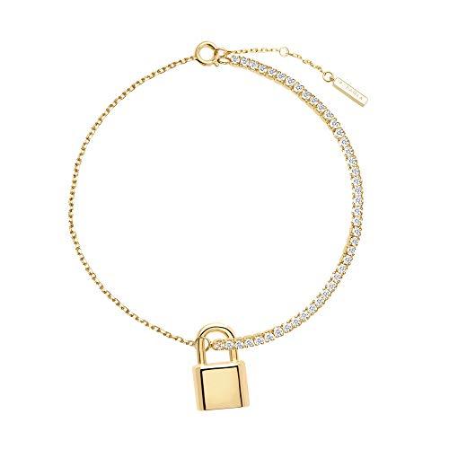 PDPAOLA - Pulsera Bond - Plata de Ley 925 Bañada en Oro de 18k - Joyas para Mujer