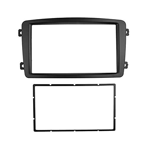 Jianjin Double DIN Stereo Panel Ajuste para Benz C Clase W203 Fascia Radio DVD DVD Instalación de Montaje de Montaje con Ajuste del Kit de Ajuste Frame (Size : 173x98mm)