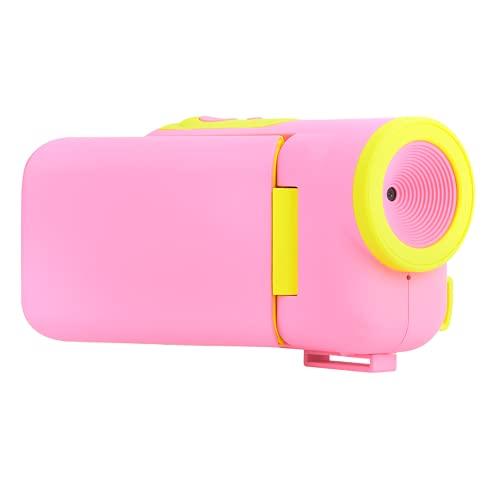 Bediffer Cámara digital para niños, cámara HD para niños, pegatinas de dibujos animados, color lindo y brillante, fácil de operar para regalo de cumpleaños de niños (rosa)