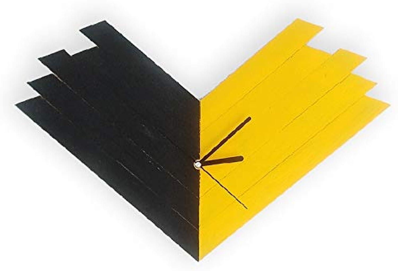 LIUXIAOJIE LIUXIAOJIE LIUXIAOJIE Reloj Dormitorio de exploración silenciosa Reloj de Parojo Decorativo Mosaico de Madera Reloj de Parojo Creativo diseo Moderno, 14 Pulgadas  alta calidad