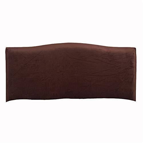 KYJSW Funda protectora para cabecero de cama, de terciopelo a prueba de polvo, extraíble, lavable, color sólido, para cama individual, doble, king (marrón, 200 cm)