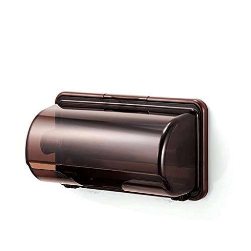 LAMZH Cubierta de Caja de Tejido Facial/Soporte para encimeras de tocador de baño,Linda (Color : Brown)
