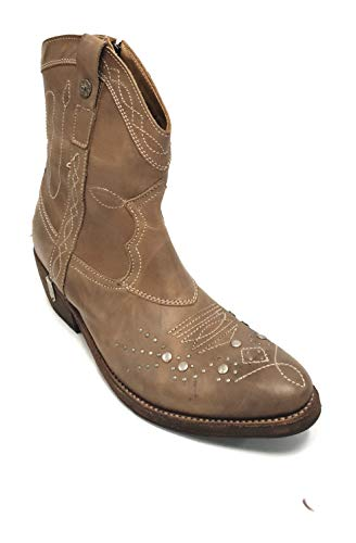 Sancho TR9021 Point 09-1 C/.Smoky Boots Herren Damen Cowboy Biker Western Stiefel (41 EU)
