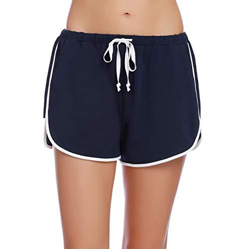 iClosam Pantalones Mujer Corto Deportes Yoga Casual Gimnasio Ejercicio Playa Aire Libre Ocasionales,Pantalón Algodón Cómodo S-XXL