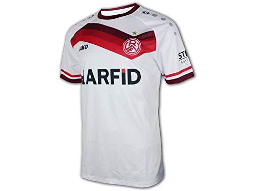 JAKO Rot Weiß Essen Heim Trikot 20 21 weiß rot RWE Home Shirt Fan Jersey, Größe:L