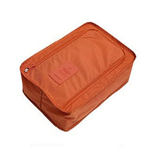 BLBI 2 stücke Bequeme Reise Aufbewahrungstasche Nylon 6 Farben Tragbare Organizer Taschen Schuh Sortierbeutel 607 (Color : Orange)