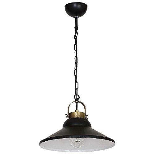 Stilvolle Pendelleuchte (Tiefe bis: 0,6m, E27, Industrie, Loft, in Schwarz, Kegelform) Loftlampe Küchenlampe Industrieleuchte Hängeleuchte Hängelampe Pendellampe