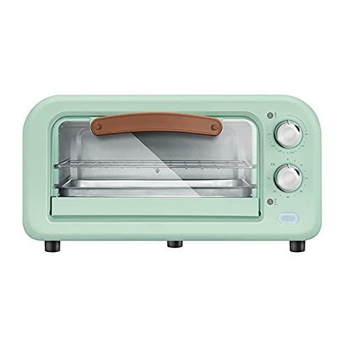 Horno de tostadora de encimera vintage multifunción, horno de convección retro con estante, pan para hornear, horno de microondas de...