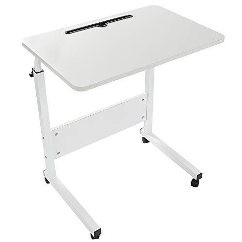 Grandma Shark Scrivania per Laptop 60 * 40 cm, scrivania Mobile Regolabile in Altezza con Slot per PC per Tablet Cellulare, tavolino Portatile per Divano Letto (Bianco)