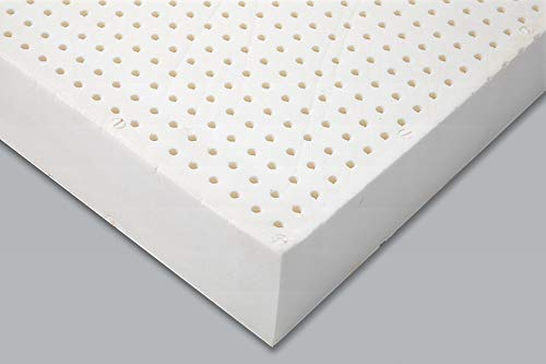 8hours Plush 100% FSC Certified Natural Latex Mattress from Belgium, Orthopedic Mattress for Back Pain Relief, Back and Spine Support Mattress, Soft- 6inches (Queen)