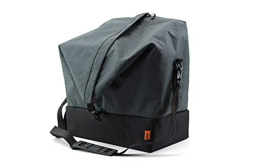 KTM Fahrradtasche für Seitengepäckträger Single grau/schwarz Vario