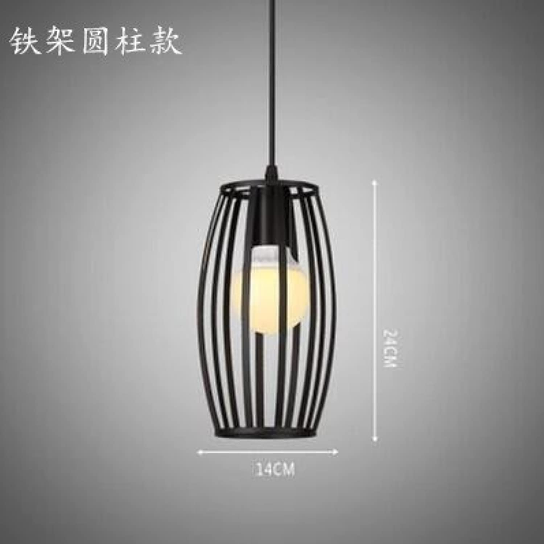 Luckyfree Kreative Modern Fashion Anhnger Leuchten Deckenleuchte Kronleuchter Schlafzimmer Wohnzimmer Küche, alle Stahl mit zylindrischen