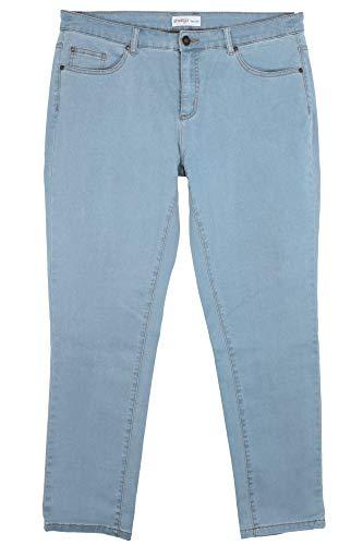 Sheego Damen Jeans im coolen Five-Pocket-Style Light Blue Denim, 58