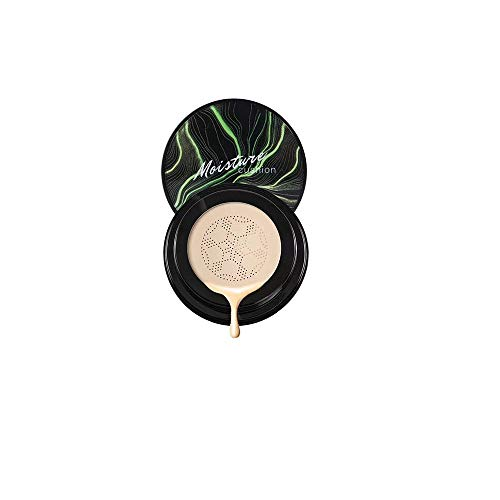 Coussin d'air BB Cream Foundation ORCCAC, Air Cushion CC Cream Mushroom Head Foundation Makeup Long Lasting Matte Concealer (1pcs, Ivory White)