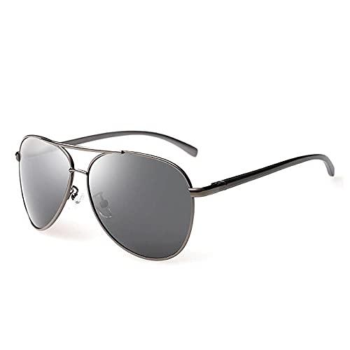 WQZYY&ASDCD Gafas de Sol Gafas De Sol Polarizadas para Hombre, Marco De Aviación De Aluminio Y Magnesio, Gafas De Sol Retro Ray, Gafas para Mujer, Uv400-Gun_Black_Package_A