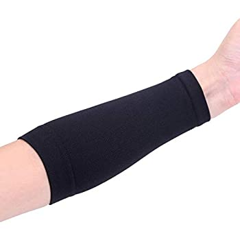 1 PCS Full Forearm Tattoo Cover Up Band Compression Sleeves Men Women  L Black