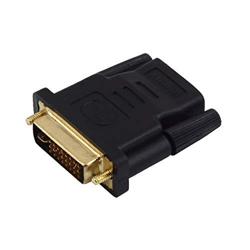 Adaptador DVI-I Macho a HDMI Chapado en Oro para HDTV 1080P LCD