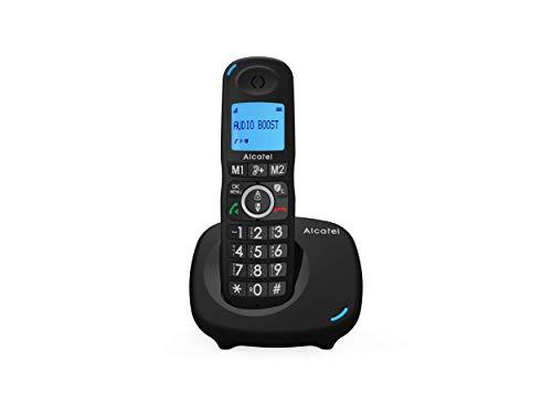 Alcatel XL 595 B Schnurlostelefon mit ergonomischem Design, großes Display, große Tastatur, blockiert unerwünschte Anrufe