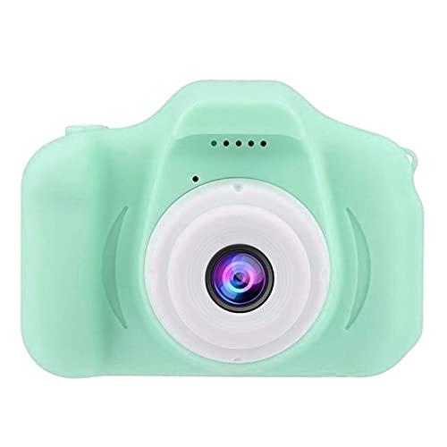Cámara para niños-cámara digital para niños Mini cámara de pantalla grande de 2 pulgadas HD 1080P Tarjeta SD de 32 GB incorporada Cámara selfie recargable por USB, juguetes de cumpleaños para-Green