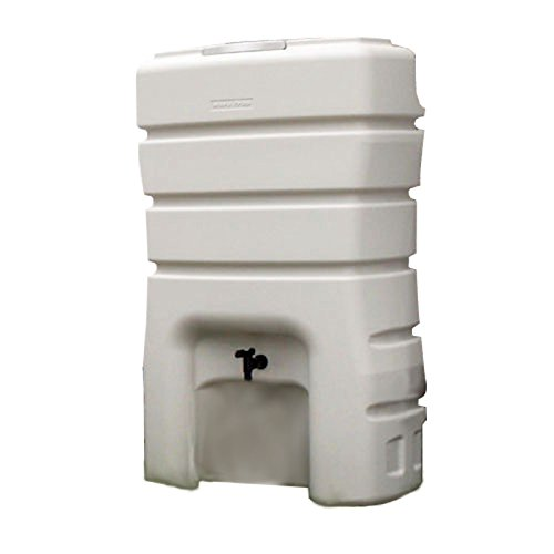 SANEI 地上設置型雨水タンク 架台一体型 有効タンク容量100L グレー EC2010AS-H-140L