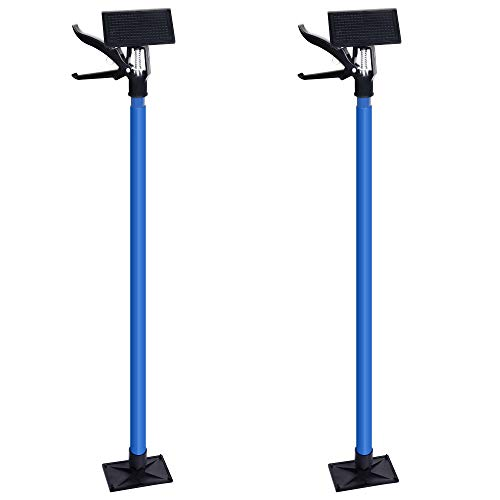 SAND MINE Adjustable Support Pole, 3rd Hand Support System, Steel Quick Support Rod, Upper Hand Work Support for Cabinet Jacks Cargo Bars Drywall Support, Extends from 45 Inch to 114 Inch (2)