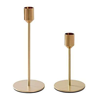 BWRMHME New Modern Metal Gold Candlestick Holders Wedding Decoration Candlesticks Home Decor Bar Party Candle Holderss (S+L) by gentletime