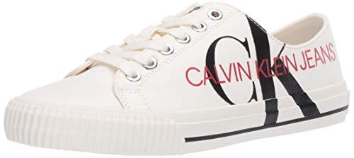 Calvin Klein Zapatillas para mujer (talla 41), color blanco