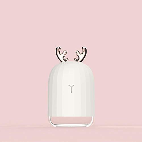 Lanlan - Humidificador ultrasónico de aire de alta calidad, 220 ml, difusor de aceite esencial de Aroma, para EL hogar, Fabricante de niebla de niebla USB Con lámpara LED de Noche, Blanco