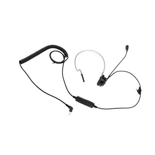 IPOTCH Auricular Profesional de Un Extremo de 2,5 Mm Macho - Auriculares con Diadema Auriculares Manos Libres para Teléfono