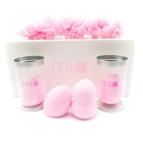 Mia beauty house | Set composto da quattro beauty sponges | Spugnette per trucco | Spugnette per crema viso | Spugnette per make up | Spugnette per fo