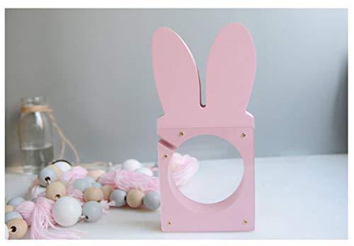 LIANGRAN Sparschwein Geschenk Piggy Moderne Spardose Niedlichen Cartoon Kaninchen Modell Holz Minions Münze Sparschwein Geld Sparen Box Spielzeug Handwerk Kinder, Kleine Größe