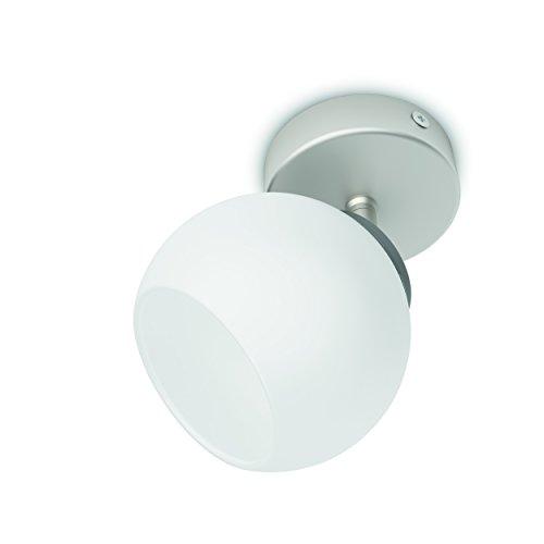 Philips Lighting Balla Faretto Singolo LED, Acciaio Spazzolato 1 x 4W, Nickel